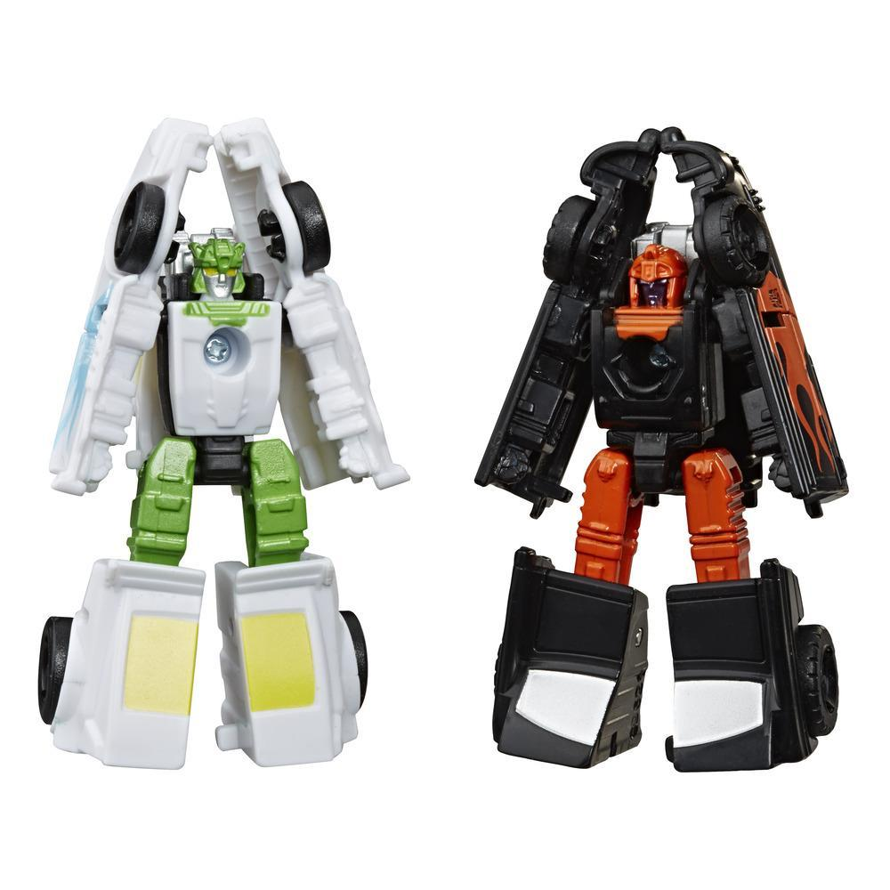 Transformers Generations War for Cybertron : Earthrise, 2 figurines Micromaster Patrouille Hot Rod WFC-E3, 3,5 cm