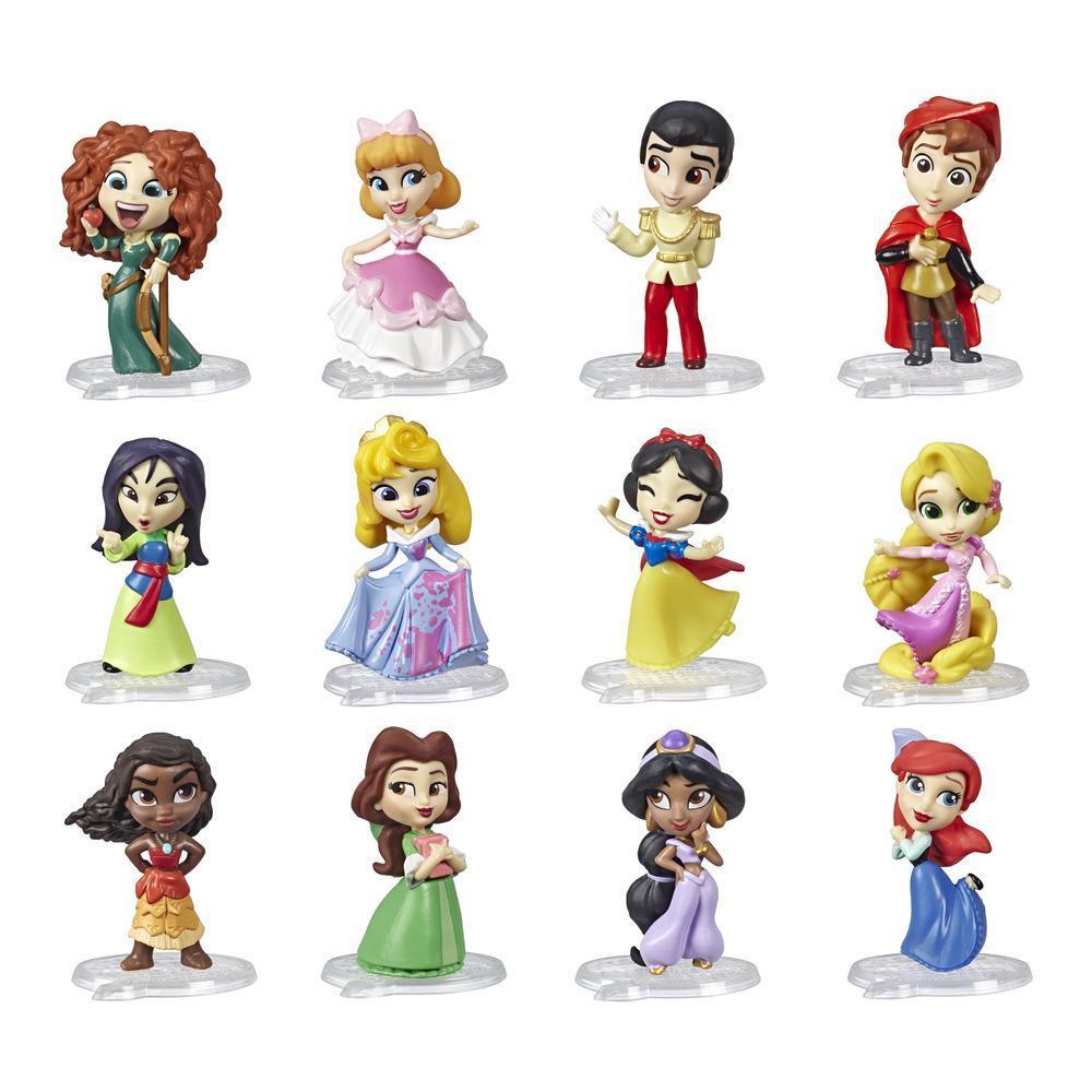 Disney Princess Comics, poupées de 5 cm à collectionner, boîte-surprise avec les personnages préférés des bandes dessinées Disney, série 1