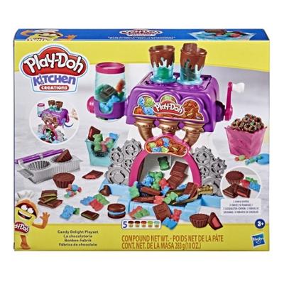 Play-Doh Kitchen Creations, La chocolaterie avec 5couleurs de pâte Play-Doh atoxique