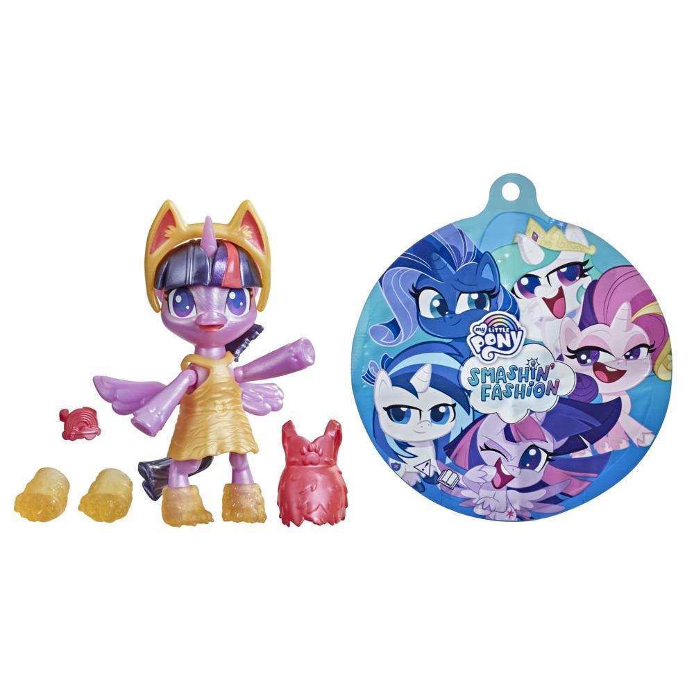 My Little Pony Smashin' Fashion, figurine articulée Twilight Sparkle avec accessoires mode et jouet surprise