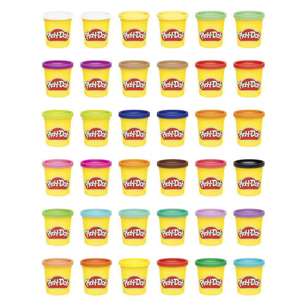 Play-Doh, Boîte de 36 pots de 84 grammes de pâte à modeler atoxique pour enfants, dès 2 ans