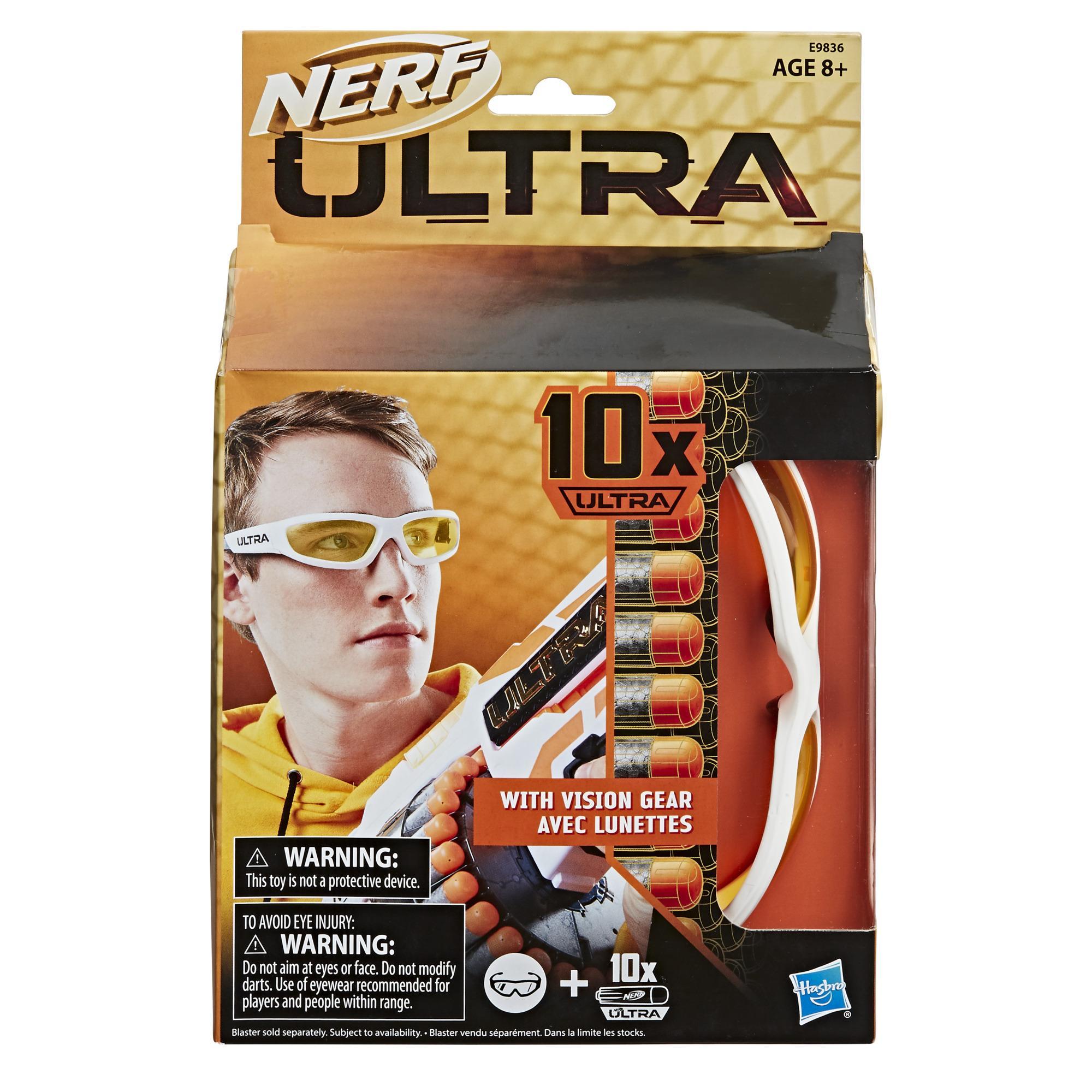 Nerf Ultra - Lunettes Vision Gear et 10 fléchettes Nerf Ultra, compatibles uniquement avec les blasters Nerf Ultra