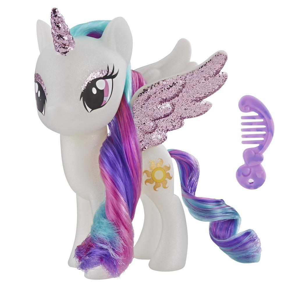 My Little Pony - Jouet princesse Celestia - Figurine scintillante de 15 cm pour enfants âgés de 3 ans et plus