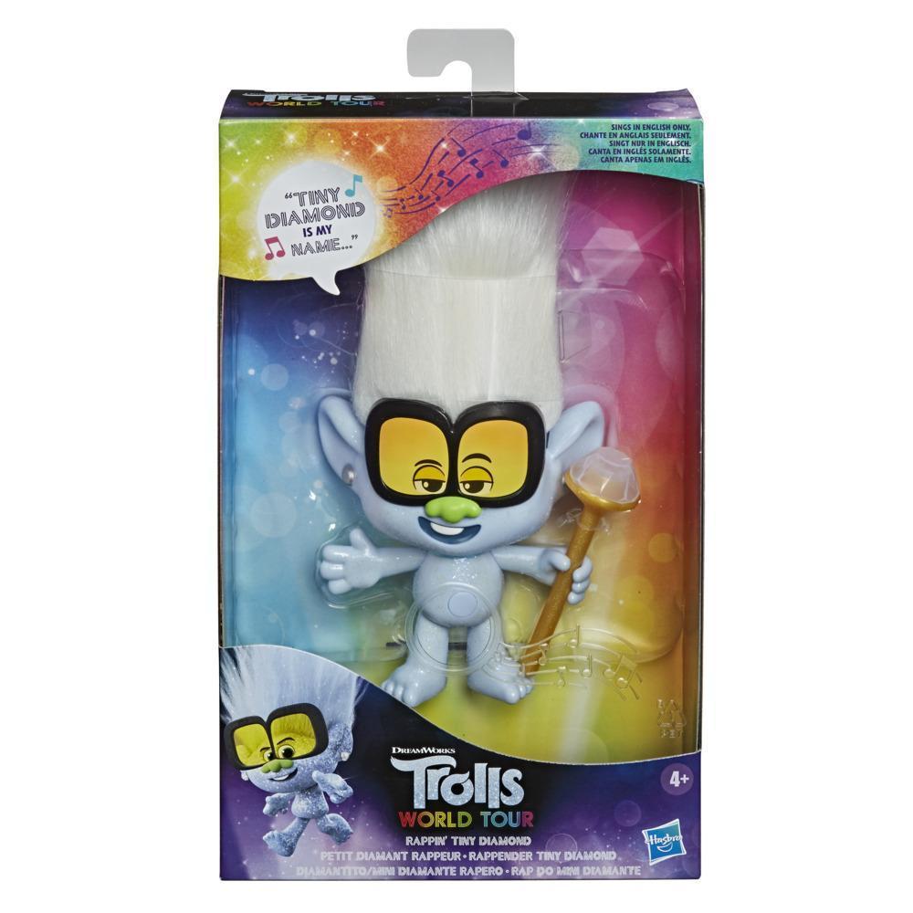 DreamWorks Trolls 2 : Tournée mondiale - poupée Petit Diamant rappeur