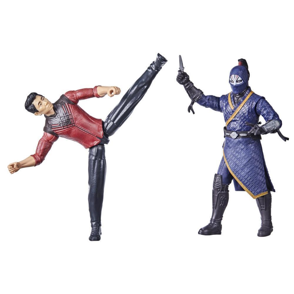 Hasbro Marvel Shang-Chi And The Legend Of The Ten Rings, pack de 2 figurines Shang-Chi vs. Death Dealer, pour enfants