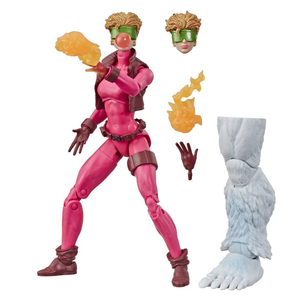 Série Marvel Legends de Hasbro, figurine articulée Marvel's Boom-Boom de 15cm à collectionner (collection X-Men/X-Force) avec pièce Build-a-Figure de Wendigo