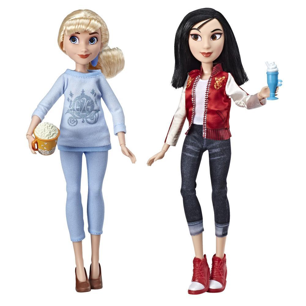 Disney Princess - Poupées Cendrillon et Mulan en tenues décontractées avec accessoires inspirées du film Ralph brise l'Internet