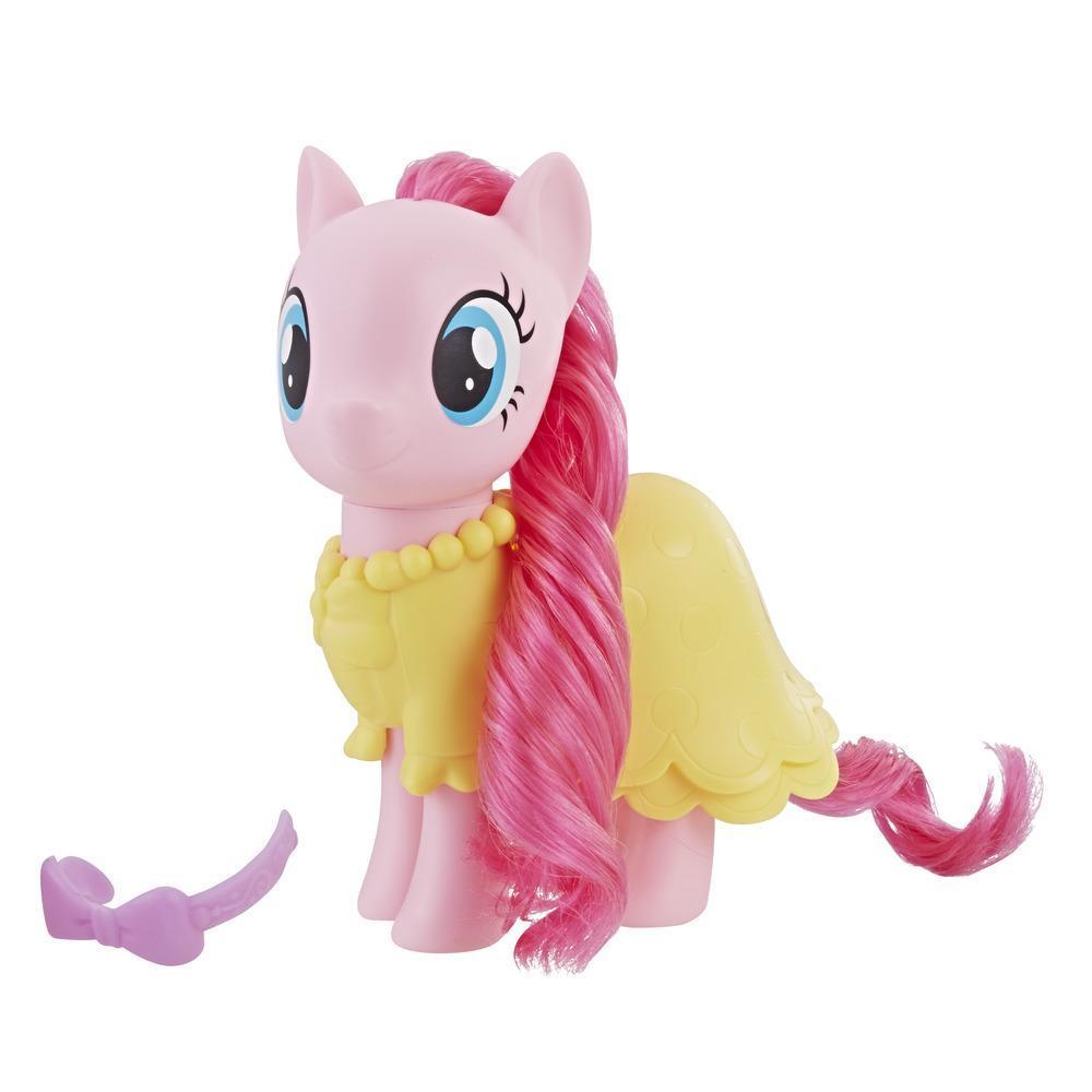 My Little Pony - Figurine Pinkie Pie à habiller - Poney rose de 15 cm avec accessoires mode