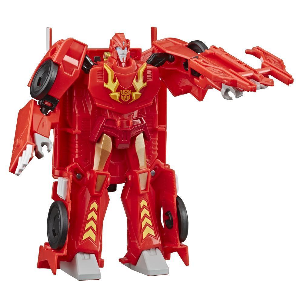 Jouets Transformers Cyberverse, figurine Hot Rod d'une taille de 17 cm, classe ultra, se combine à l'armure Energon pour gagner en surpuissance, pour enfants, à partir de 6 ans