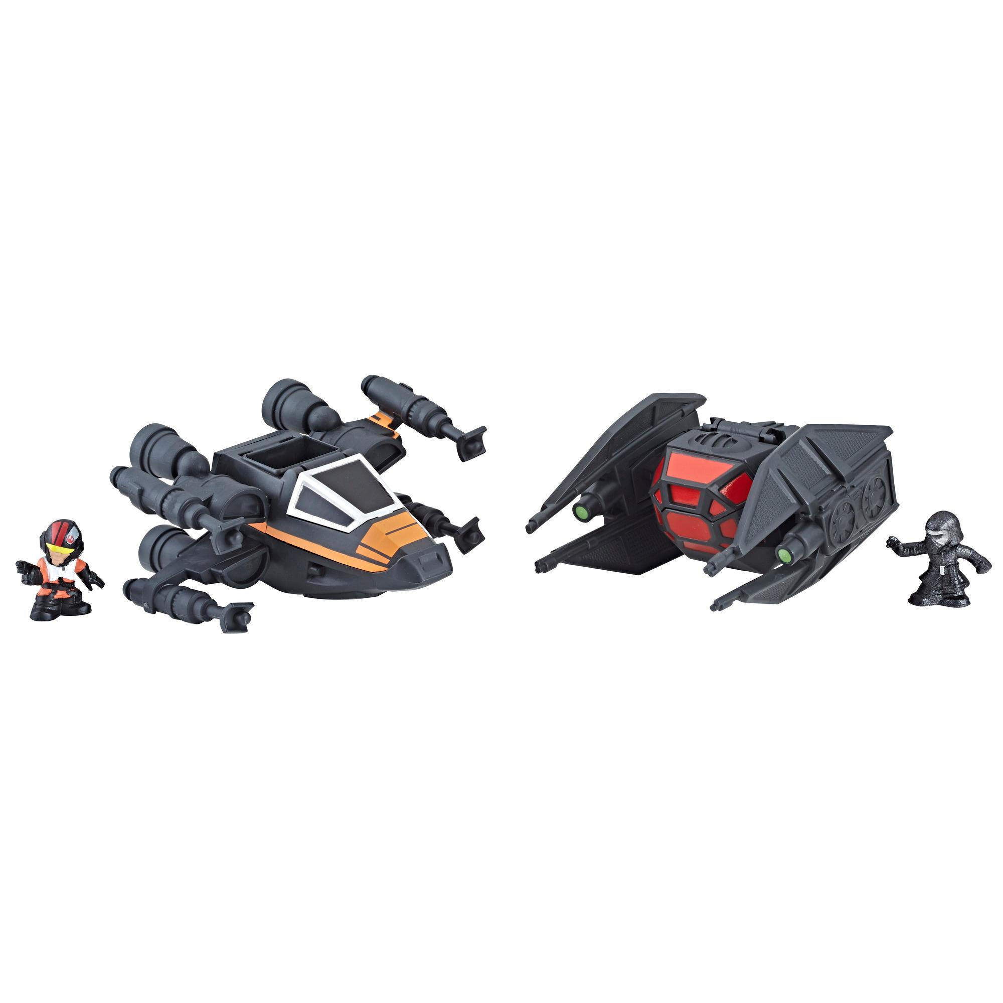 Star Wars Micro Force - Duo chasseur X-wing de Poe vs. TIE Silencer de Kylo Ren