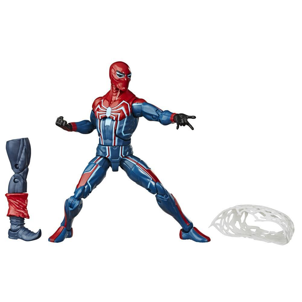 Hasbro Marvel Legends Series, figurine Velocity Suit Spider-Man de 15 cm à collectionner avec pièce Build-A-Figure