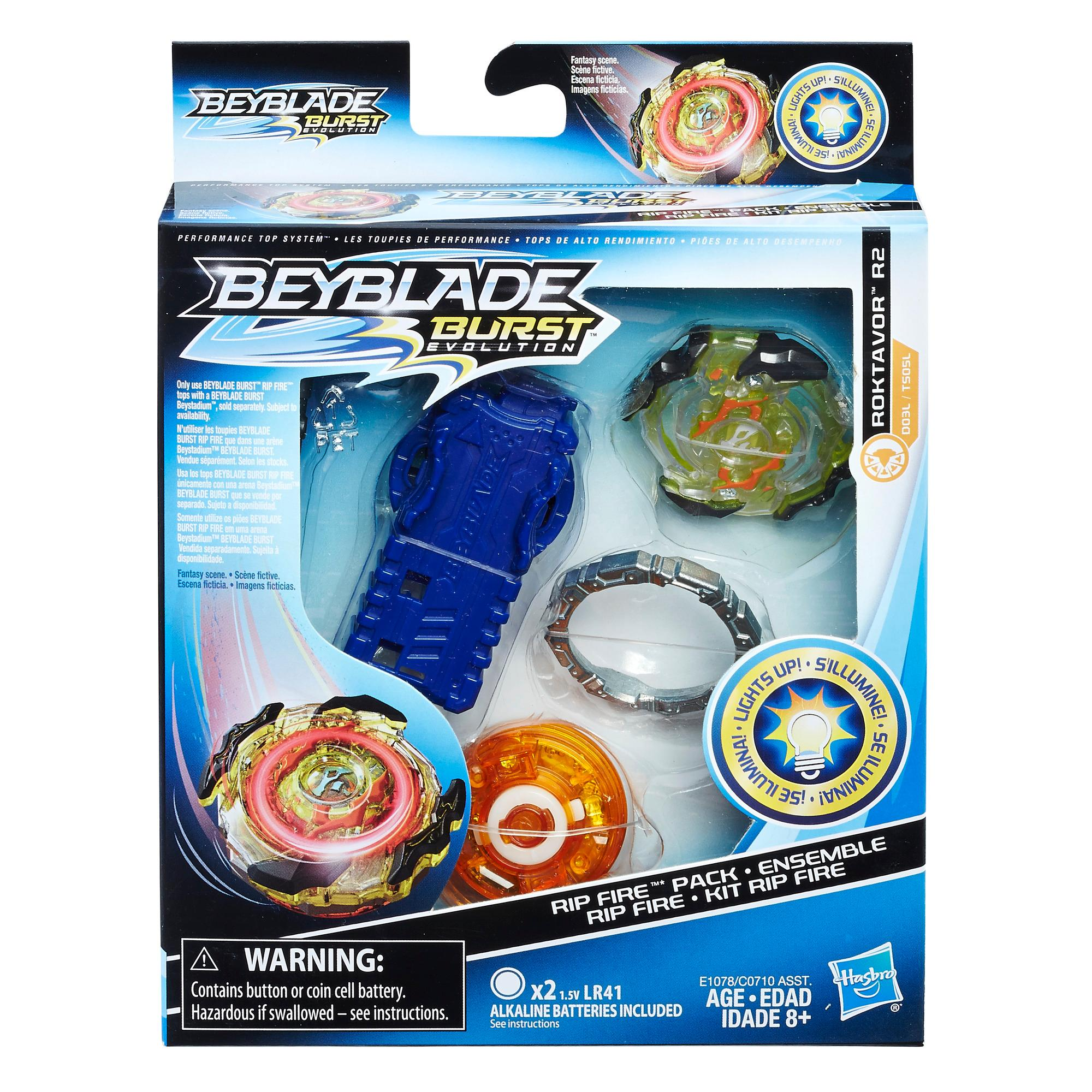 Beyblade Burst Evolution - Kit de départ Rip Fire Roktavor R2