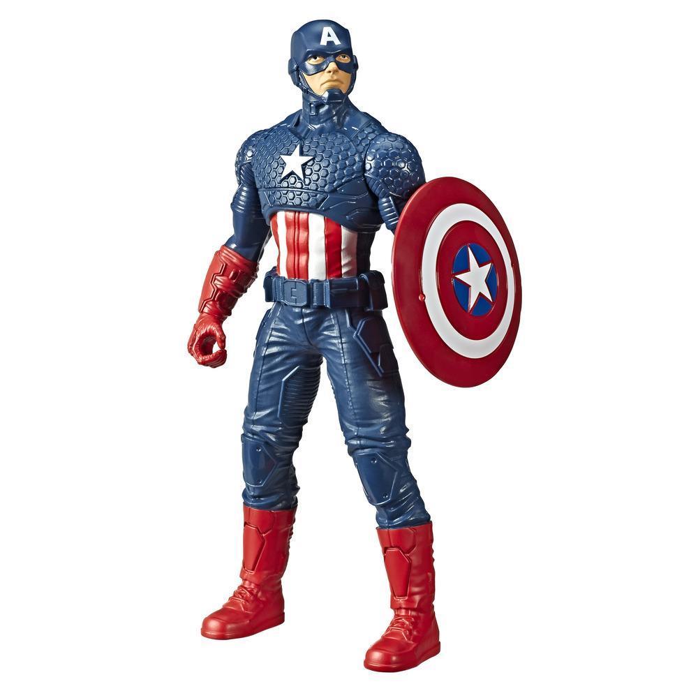 Marvel Avengers, figurine Captain America de 24 cm, inspirée des bandes dessinées, pour enfants, à partir de 4 ans