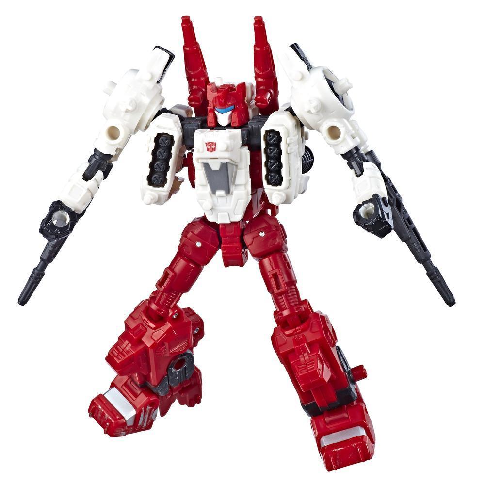 Jouets Transformers Generations War for Cybertron, figurine weaponizer Six-Gun WFC-S22 de luxe, gamme Siege, pour adultes et enfants de 8 ans et plus, 14 cm