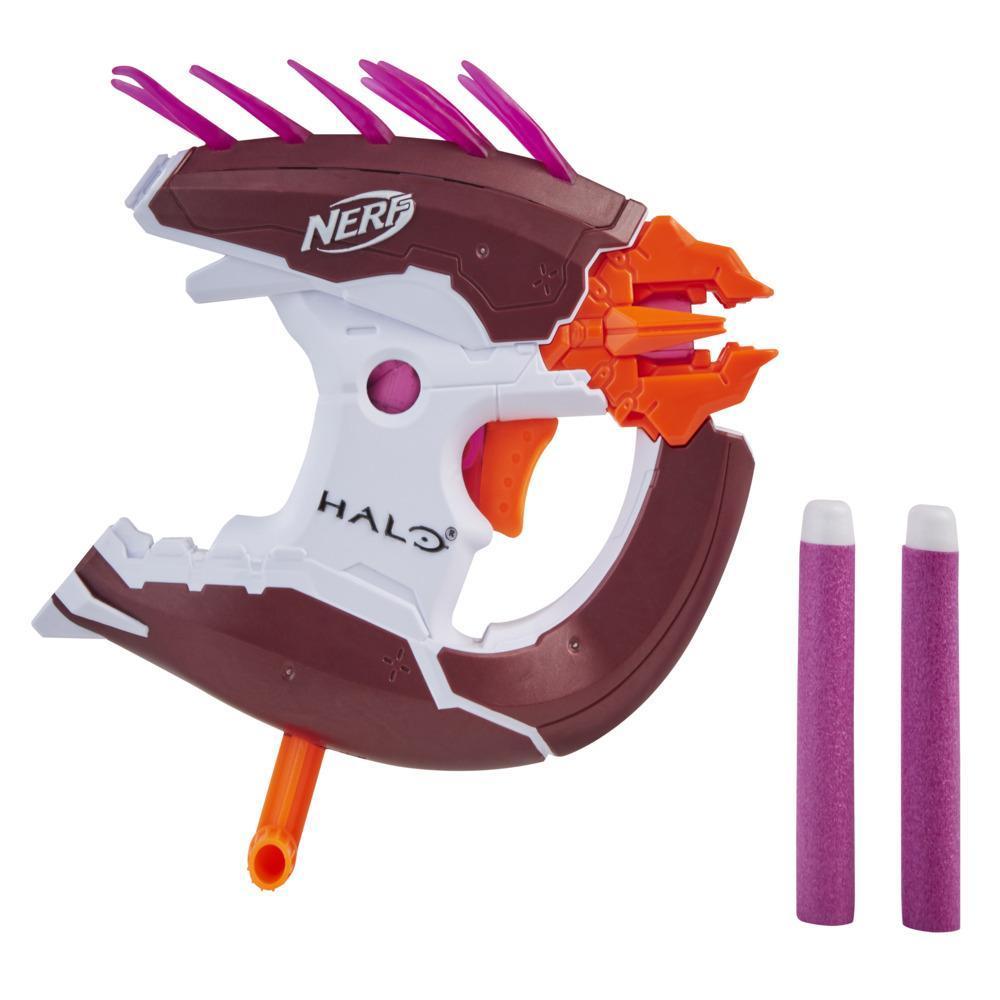 Nerf MicroShots Halo Needler, mini-blaster et 2 fléchettes Nerf