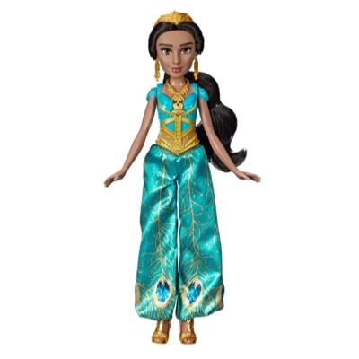 Disney - Poupée Jasmine chantante avec tenue et accessoires, inspirée du personnage du film Aladdin de Disney, chante « A Whole New World », 3 ans et plus