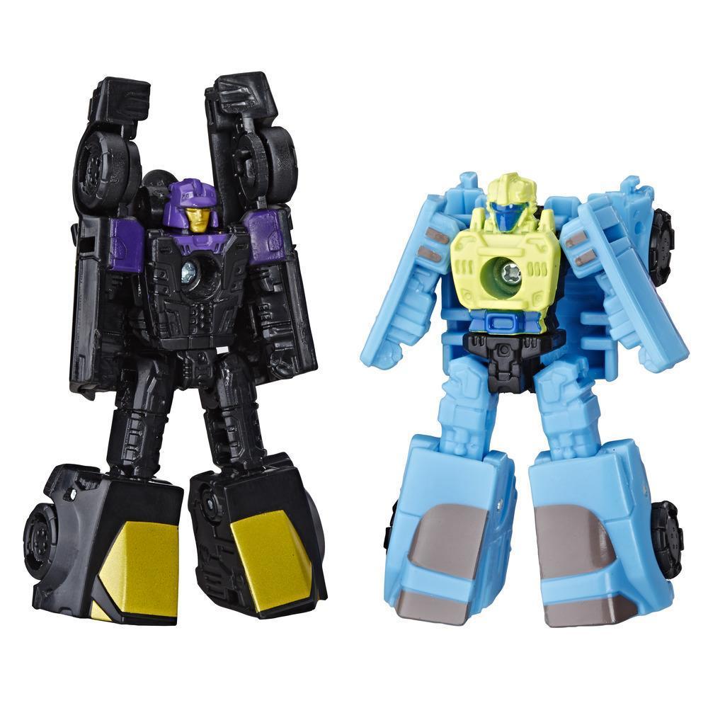 Jouets Transformers Generations War for Cybertron: Siege, duo de figurines Patrouille en bolide Micromaster WFC-S32, pour adultes et enfants de 8 ans et plus, 3.5 cm