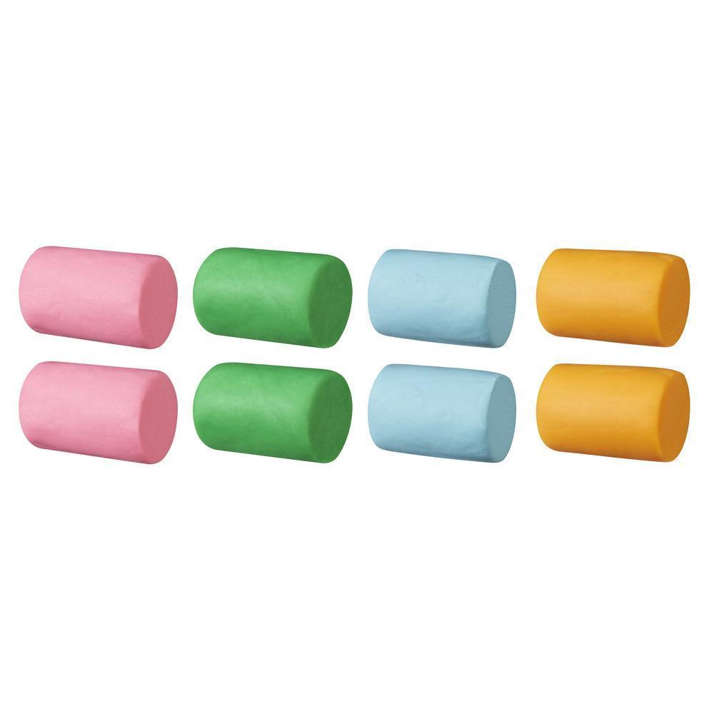 Play-Doh 896 grammes. Super pot rempli de pâte à modeler atoxique de 4 couleurs différentes : bleu pâle, vert, orange et rose