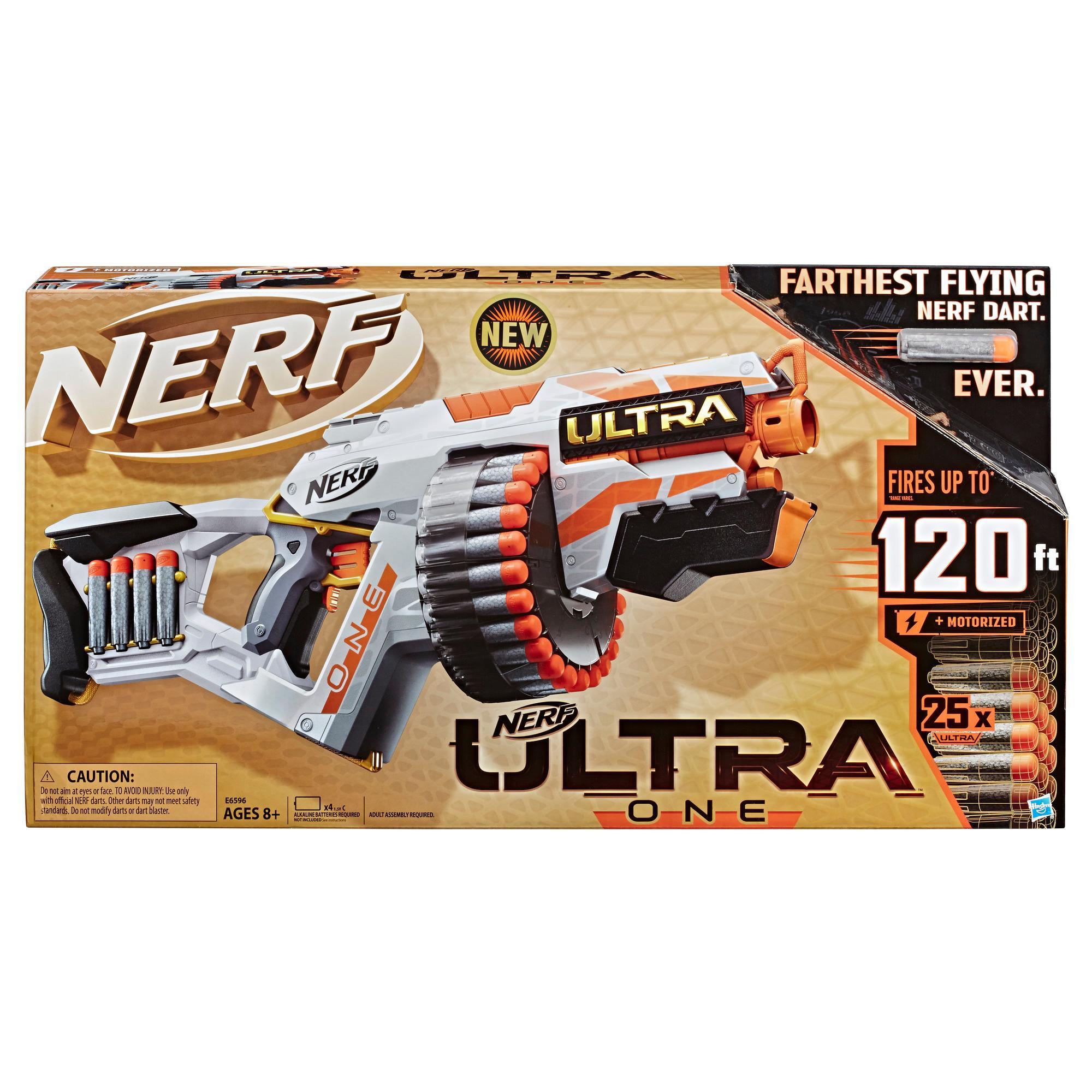 Nerf Ultra One Blaster motorisé - 25 fléchettes Nerf Ultra, compatible uniquement avec les fléchettes Nerf Ultra