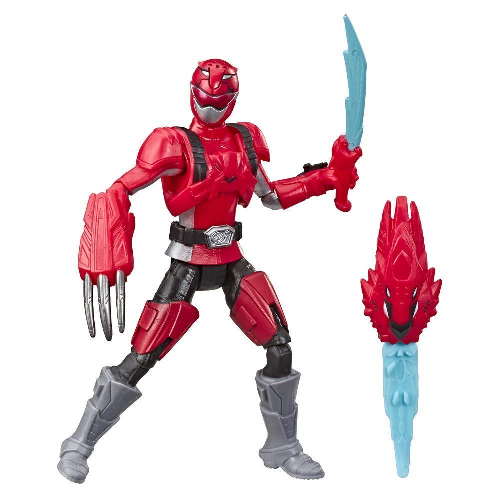 Power Rangers Beast Morphers - Figurine jouet de 15 cm Ranger rouge (Mode furie rouge) inspirée de la série télé Power Rangers