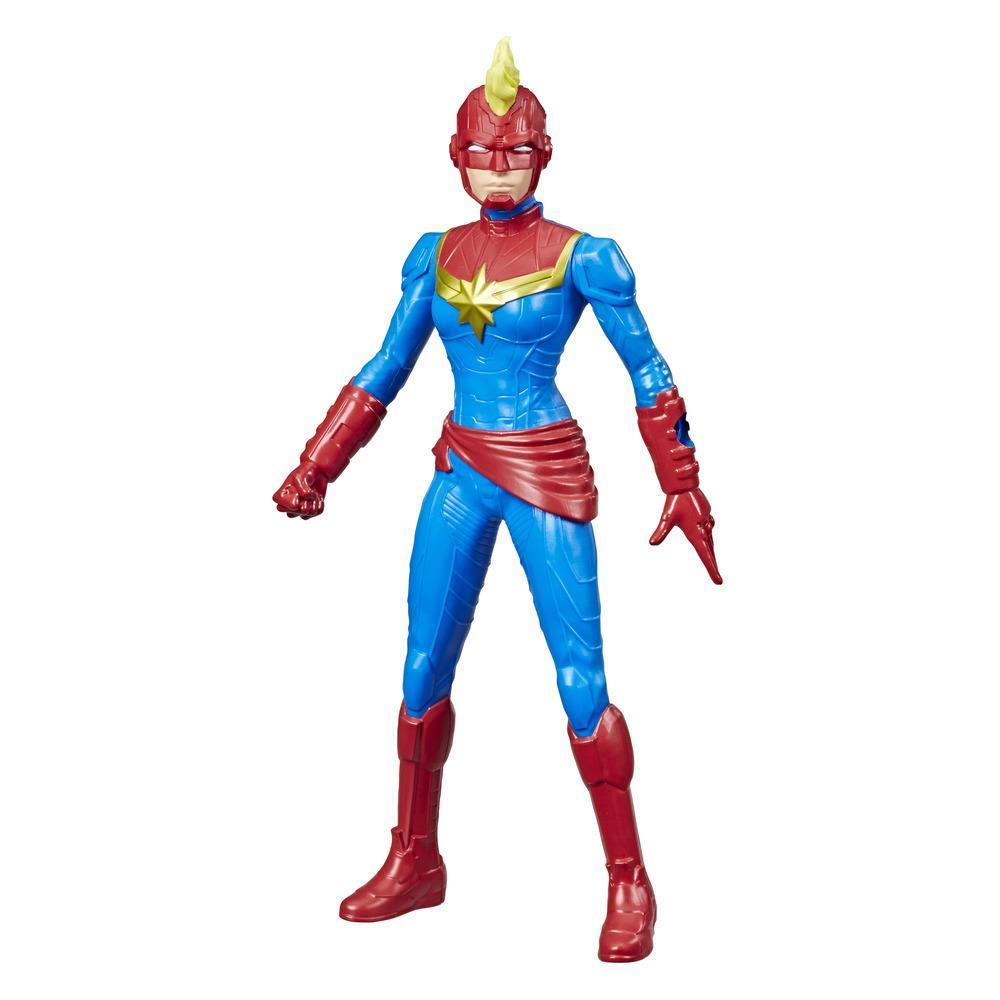 Marvel Avengers, figurine Captain Marvel de 24 cm, inspirée des bandes dessinées, pour enfants, à partir de 4 ans
