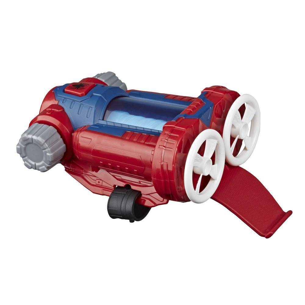 Marvel Spider-Man Web Shots Gear blaster jouet Attaque tornade, pour enfants à partir de 5 ans