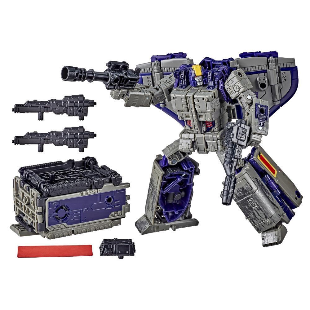 Transformers Generations War for Cybertron: Earthrise, Astrotrain WFC-E12 de 17,5cm, classe Leader à triple conversion