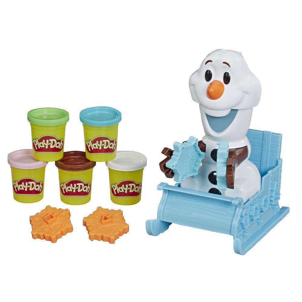Play-Doh, Le traîneau d'Olaf de La Reine des neiges de Disney avec 5 pots de pâte atoxique de couleurs différentes
