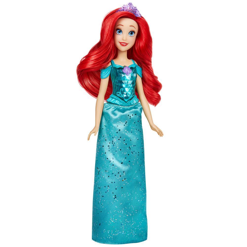 Disney Princesses, Royal Shimmer, poupée Ariel avec jupe et accessoires, jouet pour enfants, à partir de 3ans
