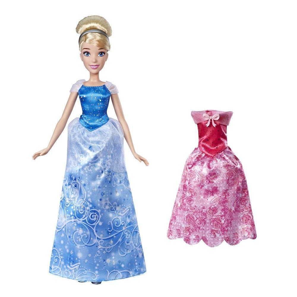 Disney Princess - Styles ensoleillés, poupée Cendrillon avec 2 tenues