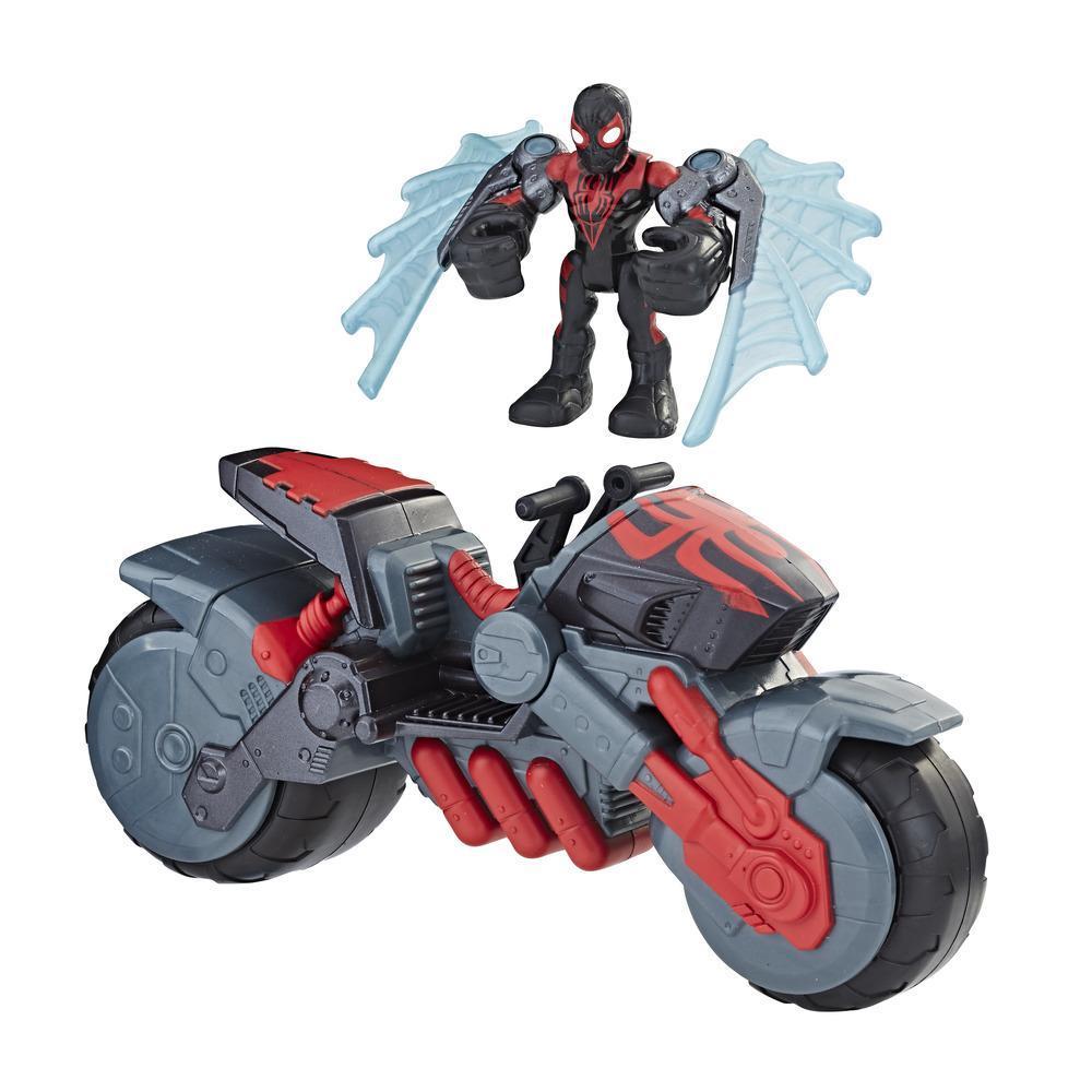 Playskool Heroes Marvel Super Hero Adventures - Arachno-moto de Kid Arachnid