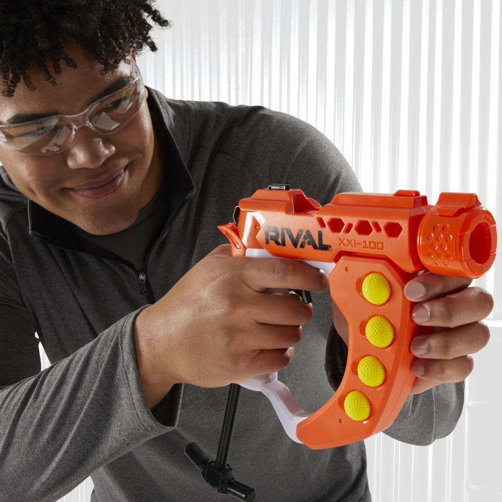 Nerf Rival Curve Shot, blaster Flex XXI-100, tirs rectilignes ou courbes (gauche, droite, vers le bas)