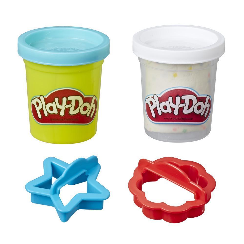 Play-Doh - Paquet de pâte à biscuits, jeu sous le thème de la nourriture avec 2 couleurs de pâte atoxique (biscuits au sucre)