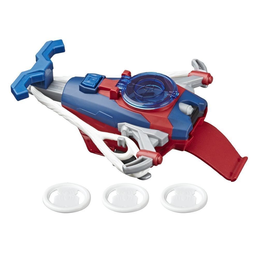 Marvel Spider-Man Web Shots Gear blaster jouet Lance-disques, pour enfants à partir de 5 ans