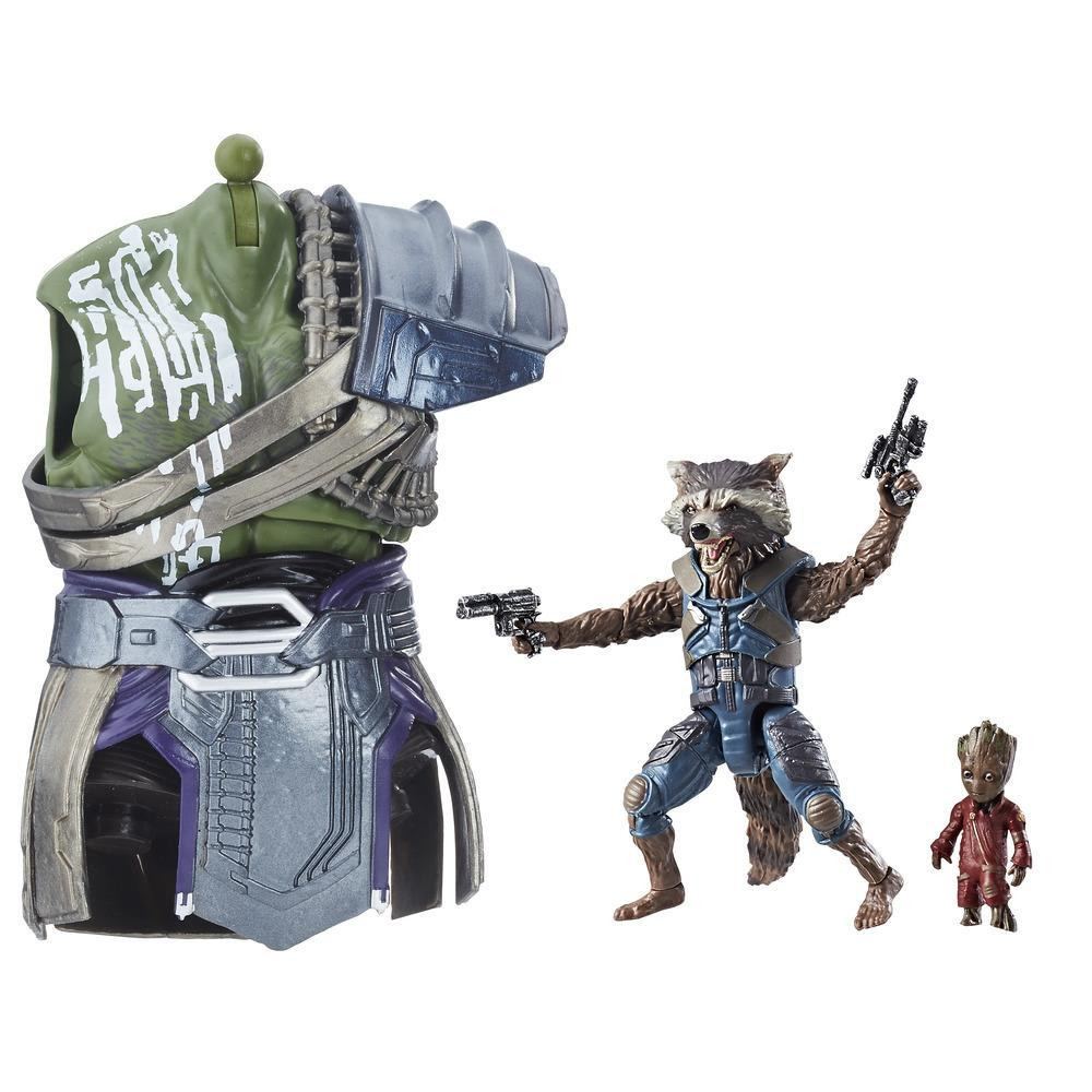 Marvel Best of Legends Series - Figurines Rocket Raccoon & Groot