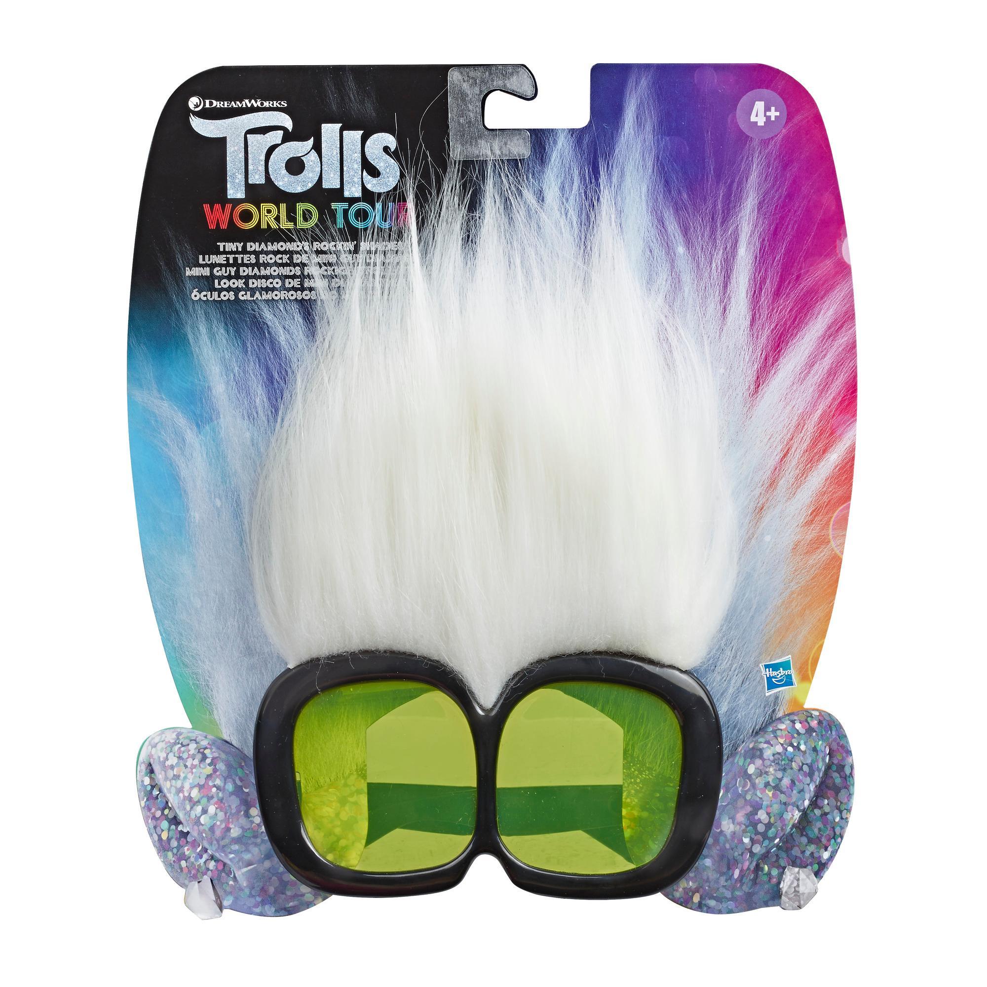 Les Trolls de DreamWorks, Lunettes rock de Mini Guy Diamant, lunettes de soleil amusantes inspirées du film Trolls World Tour