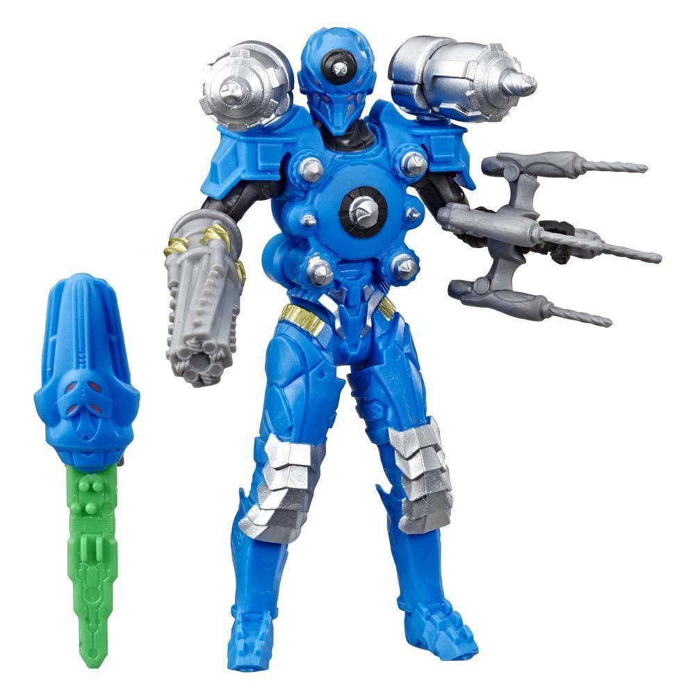 Power Rangers Beast Morphers - Figurine jouet de 15 cm Drilltron inspirée de la série télé Power Rangers