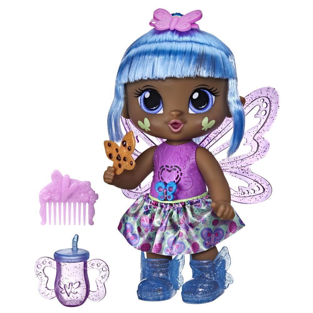 Baby Alive poupée GloPixies Gigi Glimmer, poupée interactive de fée lumineuse de 26,5 cm pour enfants, dès 3 ans