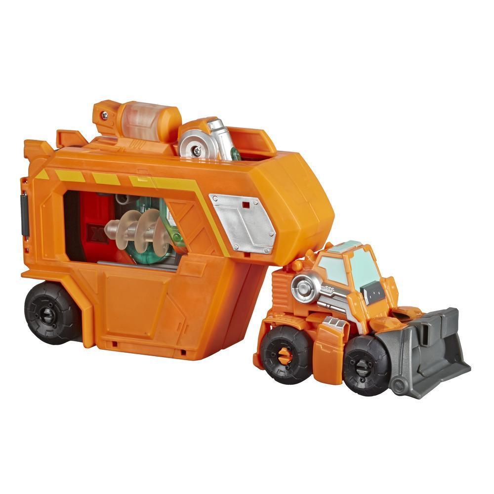 Playskool Heroes Transformers Rescue Bots Academy - Jouet Centre de commandement Wedge avec remorque et outil qui s'illumine