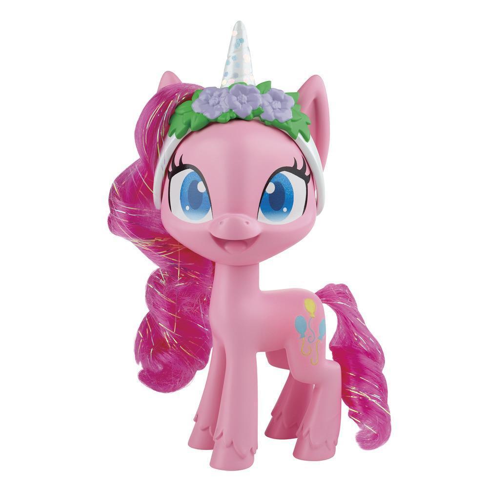 My Little Pony, figurine Pinkie Pie Potion de style, poney rose de 12,5 cm avec accessoires de mode, crinière peignable