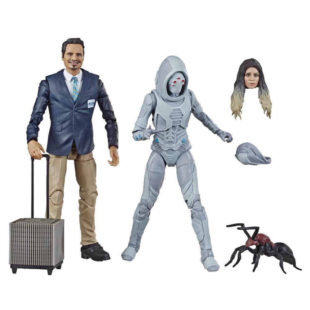 Marvel Legends Series Ant-Man et la Guêpe - Duo de figurines de 15cm X-Con Luis et Marvel's Ghost