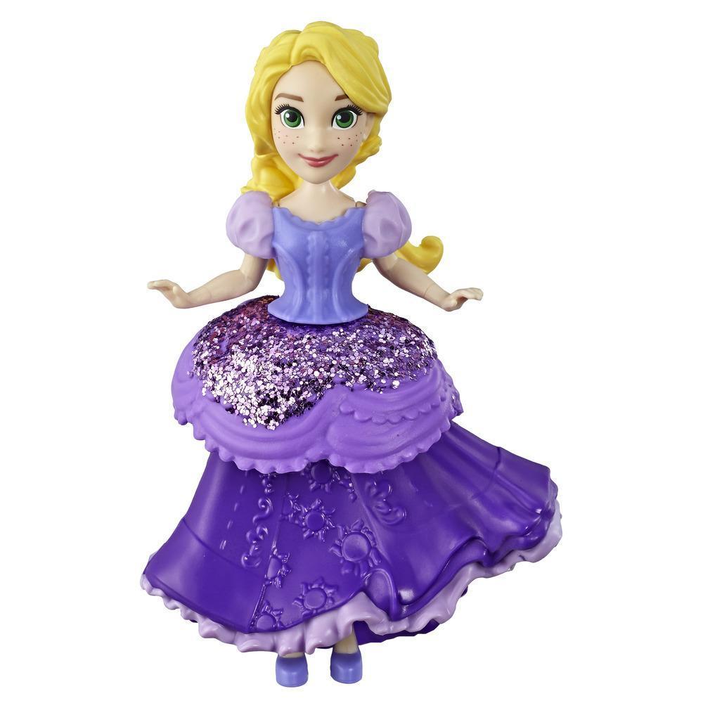 Disney Princesses Royal Clip - Mini poupée Raiponce de collection avec tenue mauve scintillante, jouet pour les enfants à partir de 3ans