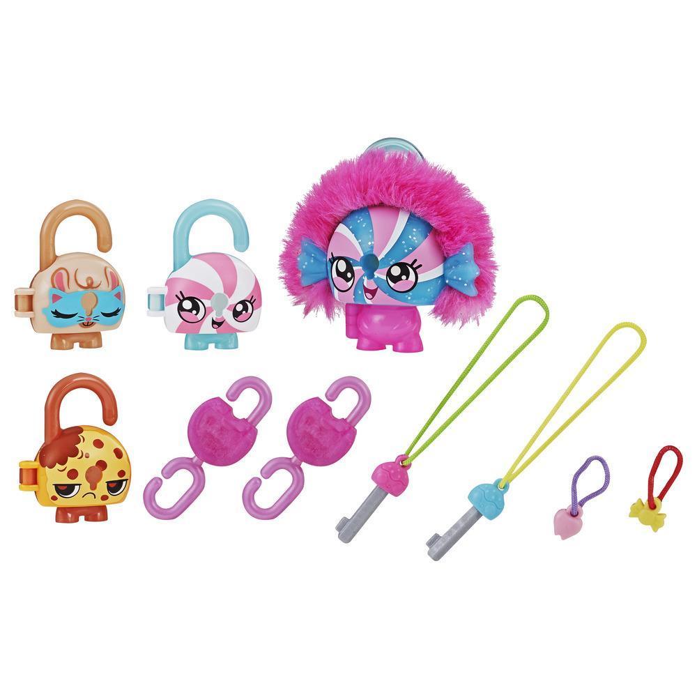Lock Stars - Figurine de cadenas de luxe à thématique de bonbon avec accessoires, Série 3 (Les combinaisons peuvent varier.)