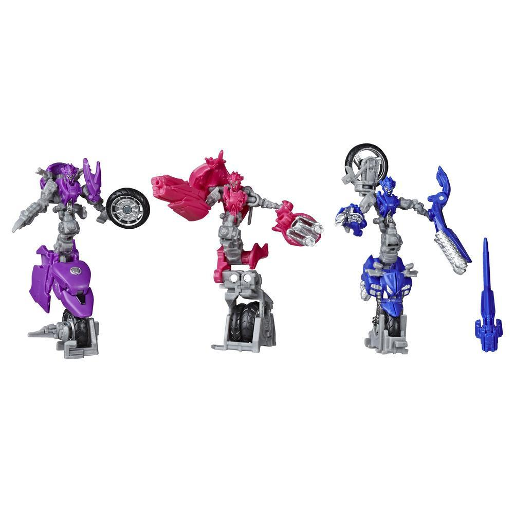 Jouets Transformers Studio Series 52, trio de figurines Arcee Chromia et Elita-1 Deluxe de Transformers : La Revanche