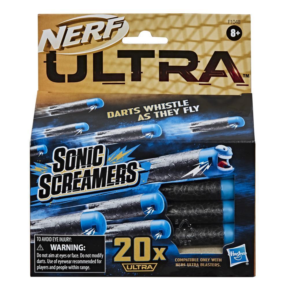 Recharge de 20 fléchettes Nerf Ultra Sonic Screamers, fléchettes sifflantes, compatibles seulement avec les blasters Nerf Ultra