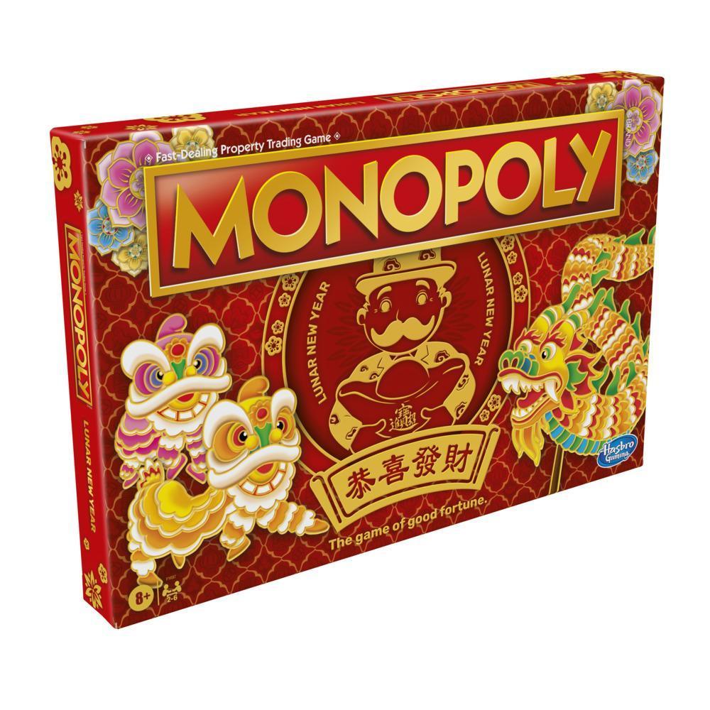Monopoly : édition Nouvel An lunaire, jeu de plateau pour enfants à partir de 8 ans