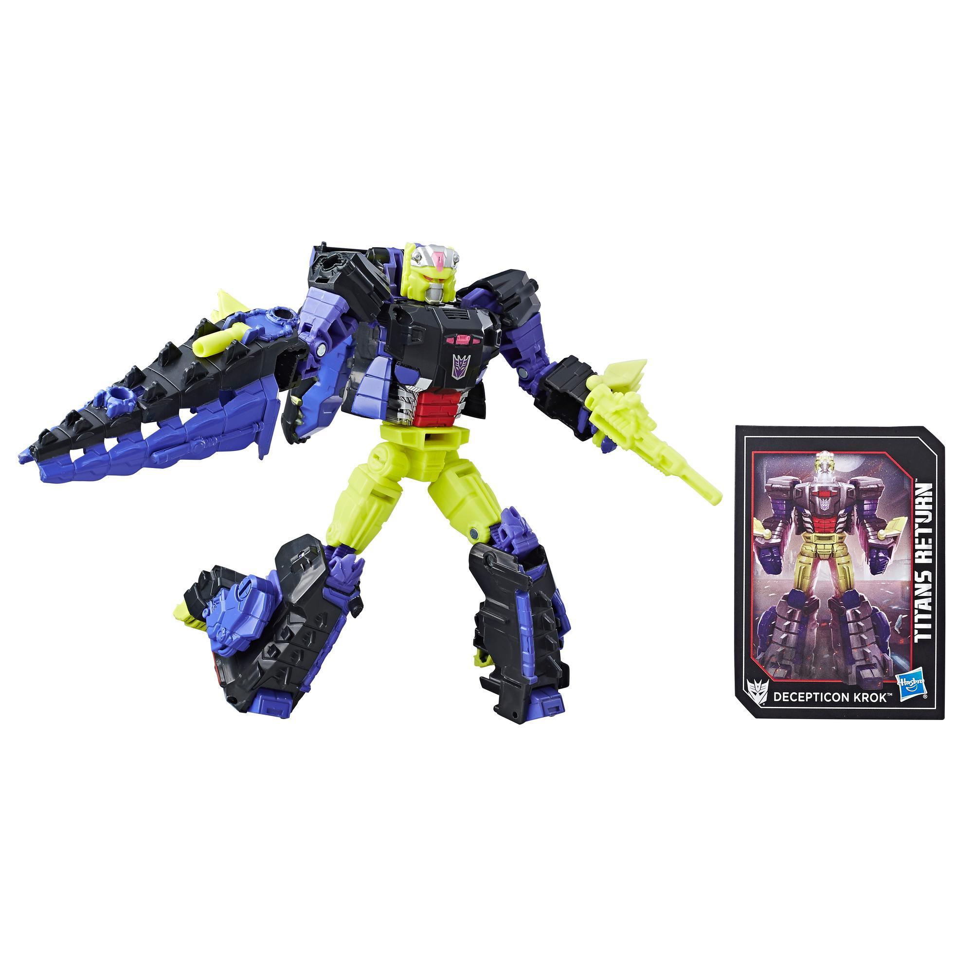 Transformers Generations Titans Return–Decepticon Krok et Gatorface