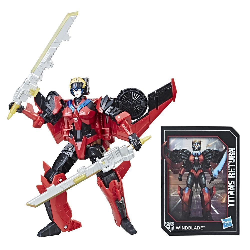 Transformers Generations Titans Return - Figurines Windblade et Scorchfire de classe de luxe