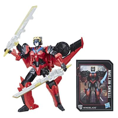 Transformers Generations Titans Return - Figurines Windblade et Scorchfire de classe de luxe