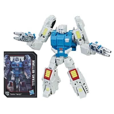 Transformers Generations Titans Return - Twin Twist de classe de luxe et Flameout